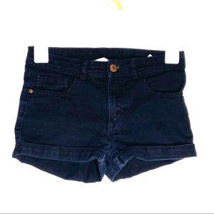 H&M black jean shorts size 10